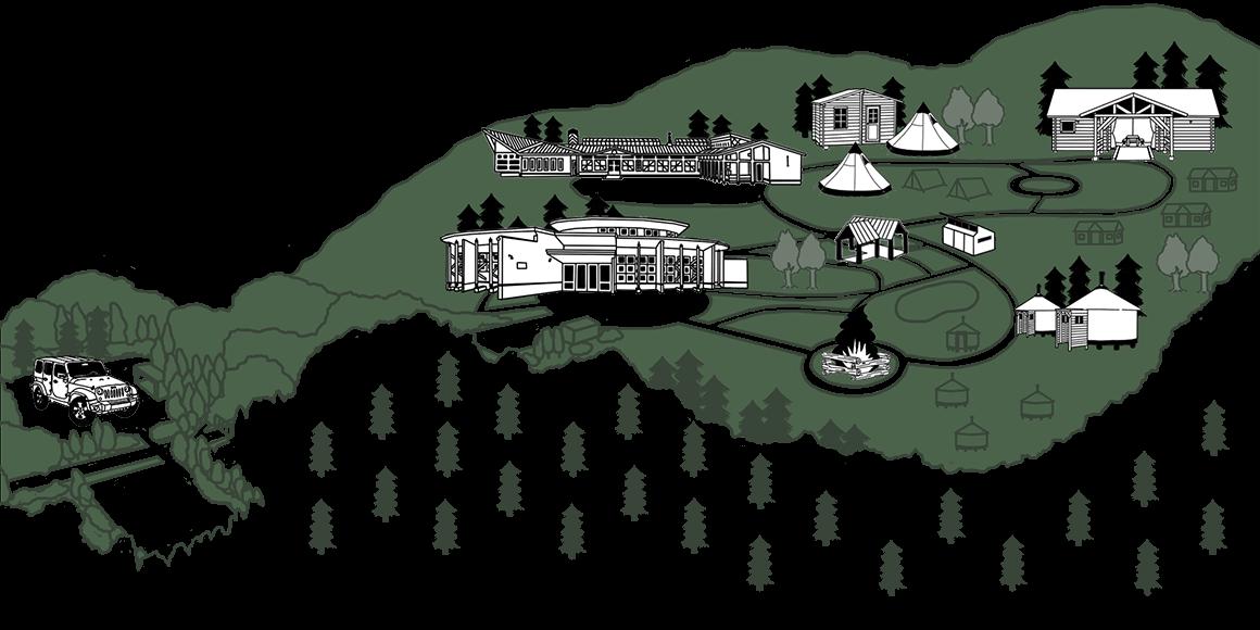 施設の全体図