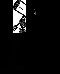 望遠鏡と人のイラスト