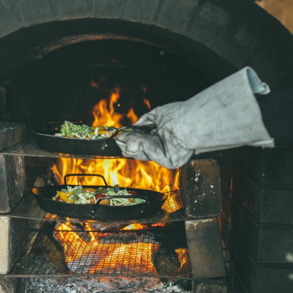 石窯料理体験