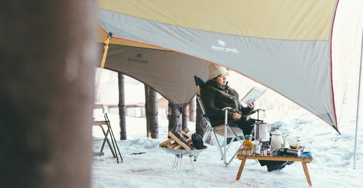 テントと椅子の写真