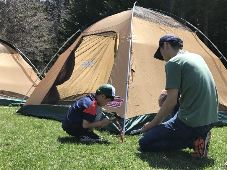 キャンプで「コソ練」のイメージ写真